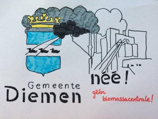 Diemen Nee: geen biomassacentrale - ⓒ Maaike Hillebrand